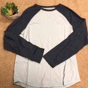 Other - Men's blue shirt with navy sleeves size M